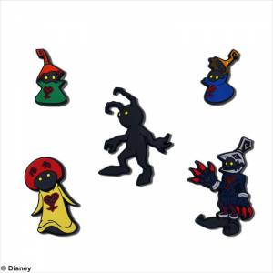 Kingdom Hearts Rubber Magnet Heartless Set [Goods]