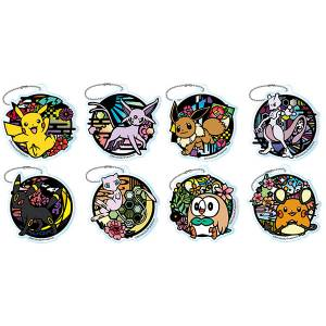 Pokemon Kirie Series Trading Acrylic Keychain 8 Pack BOX [Goods]