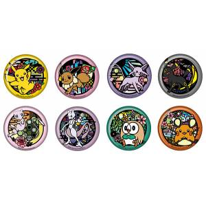 Pokemon Kirie Series Trading Tin Badge 8 Pack BOX [Goods]