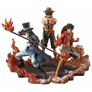 One Piece - DXF Brotherhood II - Luffy Ace Sabot Set of 3 [Banpresto] [Used]