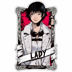 Capcom x B-SIDE LABEL Sticker - Devil May Cry 5 Lady [Goods]