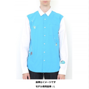 Pokemon - graniph Long Sleeve Shirt Water Type Embroidered Pokemon Center Limited [Goods / Fashion]