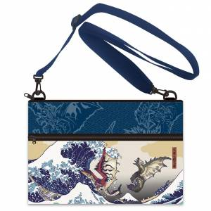 Monster Hunter - Ukiyoe Pouch / Sacoche Rathalos & Rathian x Fugaku [Goods]